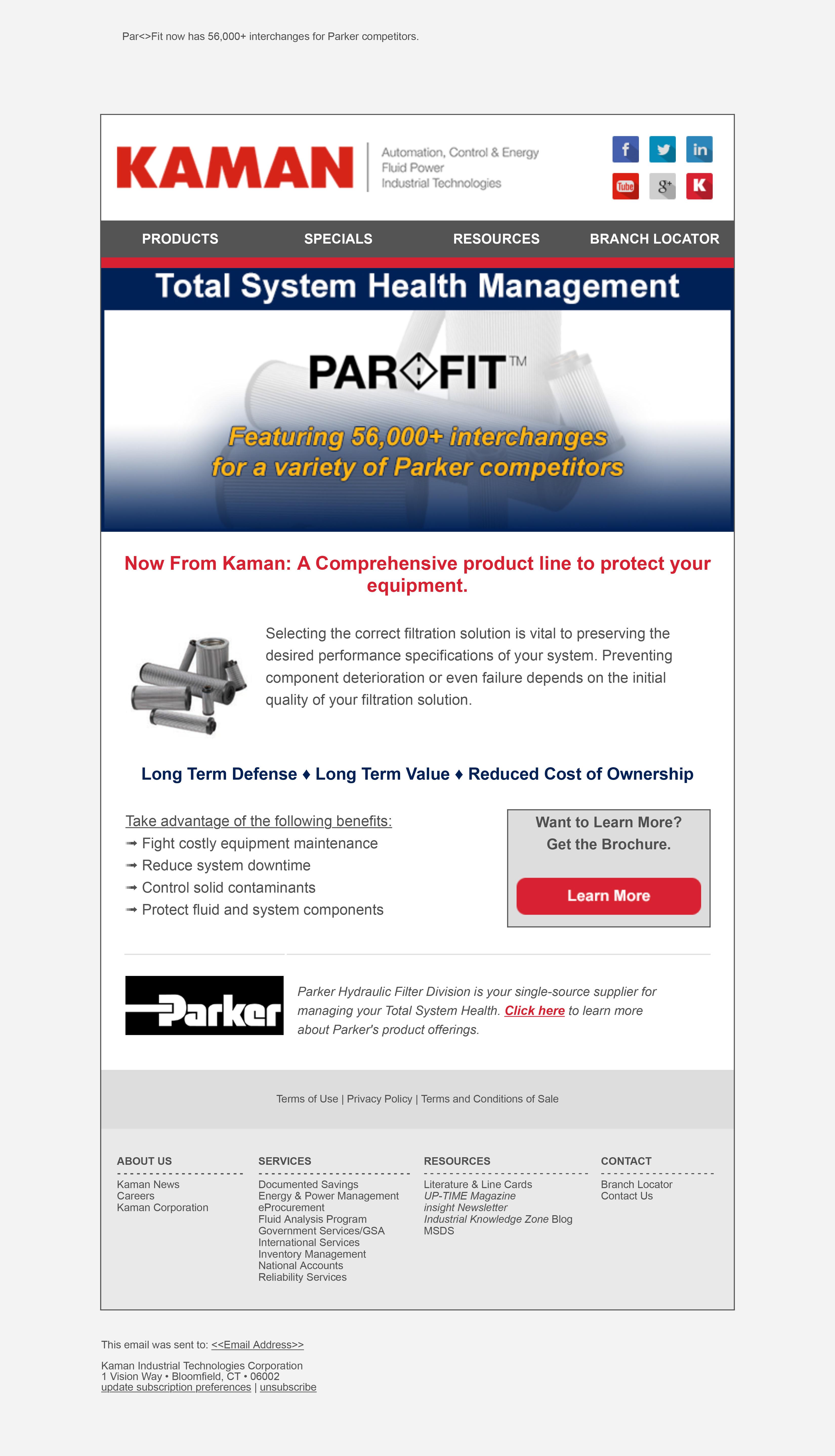Parker Hannifin Filter Elements